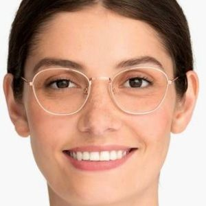 Warby Parker Rose Gold Colby glasses